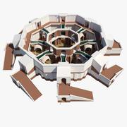 中央浴室 3d model