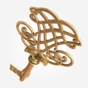 Chave de ouro 3d model