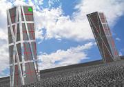 KIO TOWERS 3d model