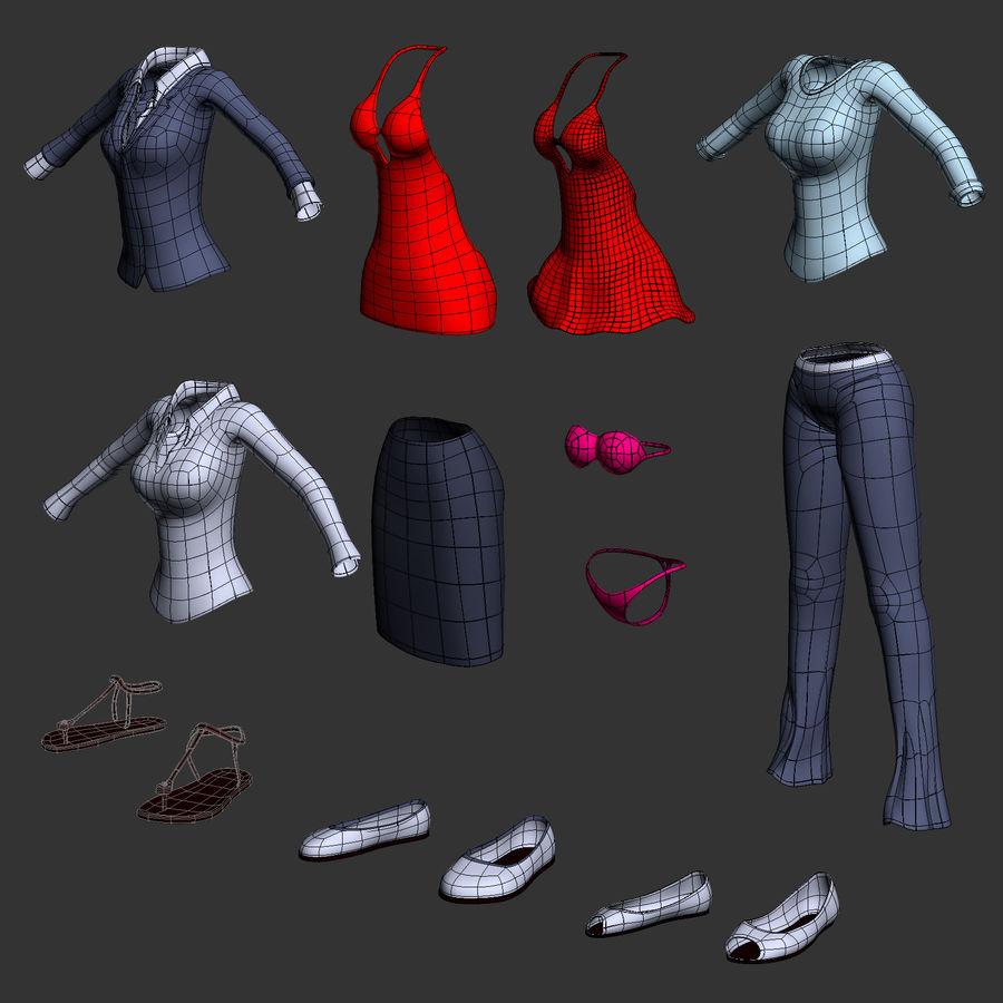 만화 여자 캐릭터 royalty-free 3d model - Preview no. 6