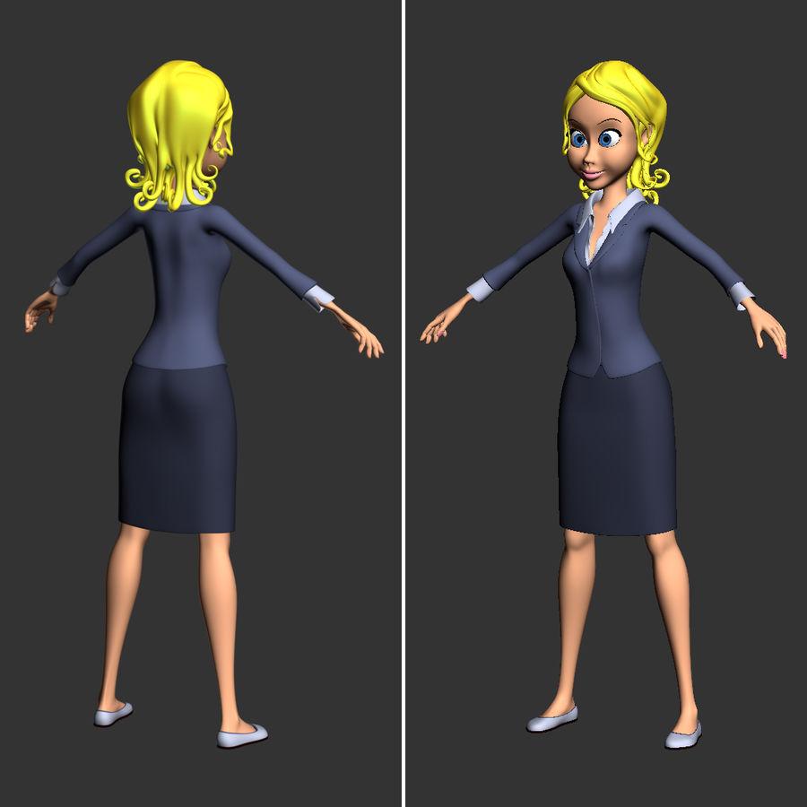 만화 여자 캐릭터 royalty-free 3d model - Preview no. 8