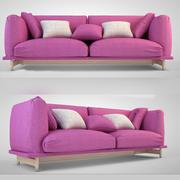 Розовый Диван Модерн 3d model