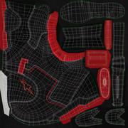 Botas de motocicleta 3d model