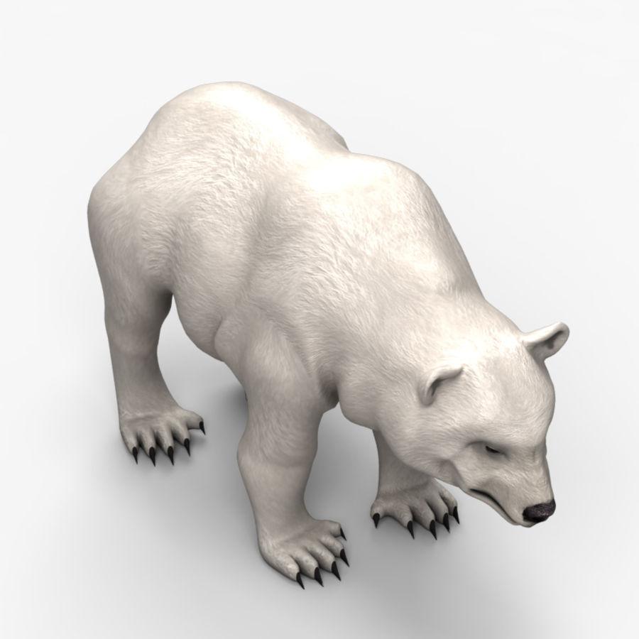 Urso baixo poli 2 royalty-free 3d model - Preview no. 3