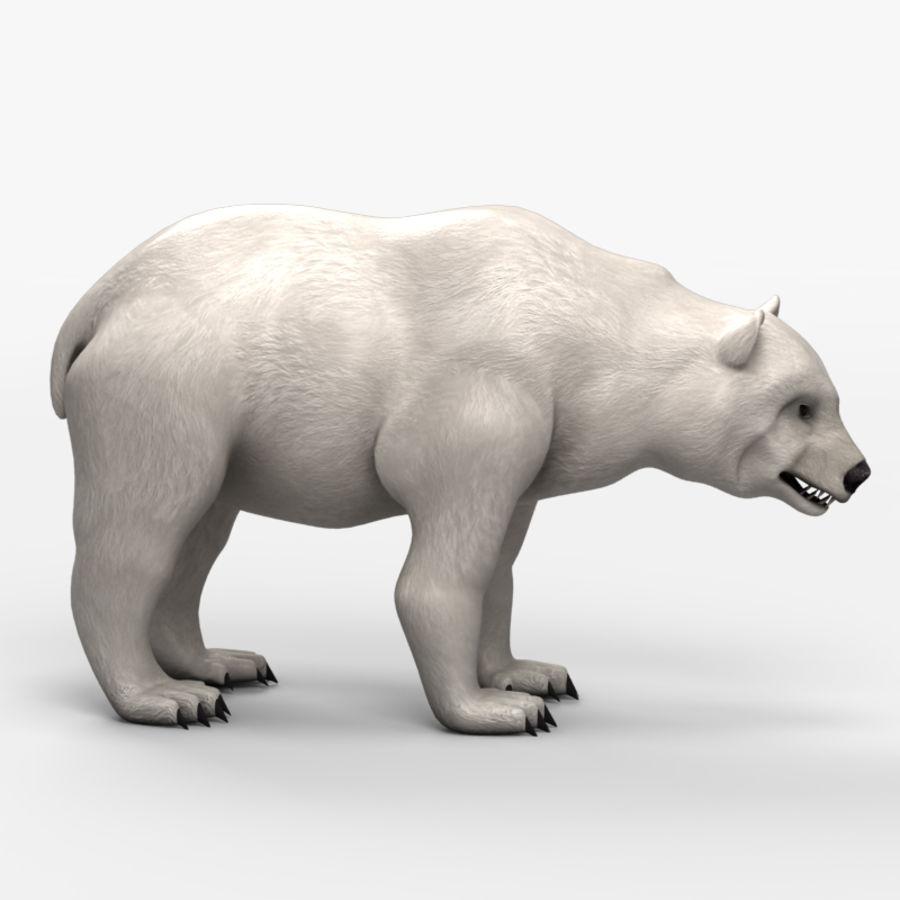 Urso baixo poli 2 royalty-free 3d model - Preview no. 4