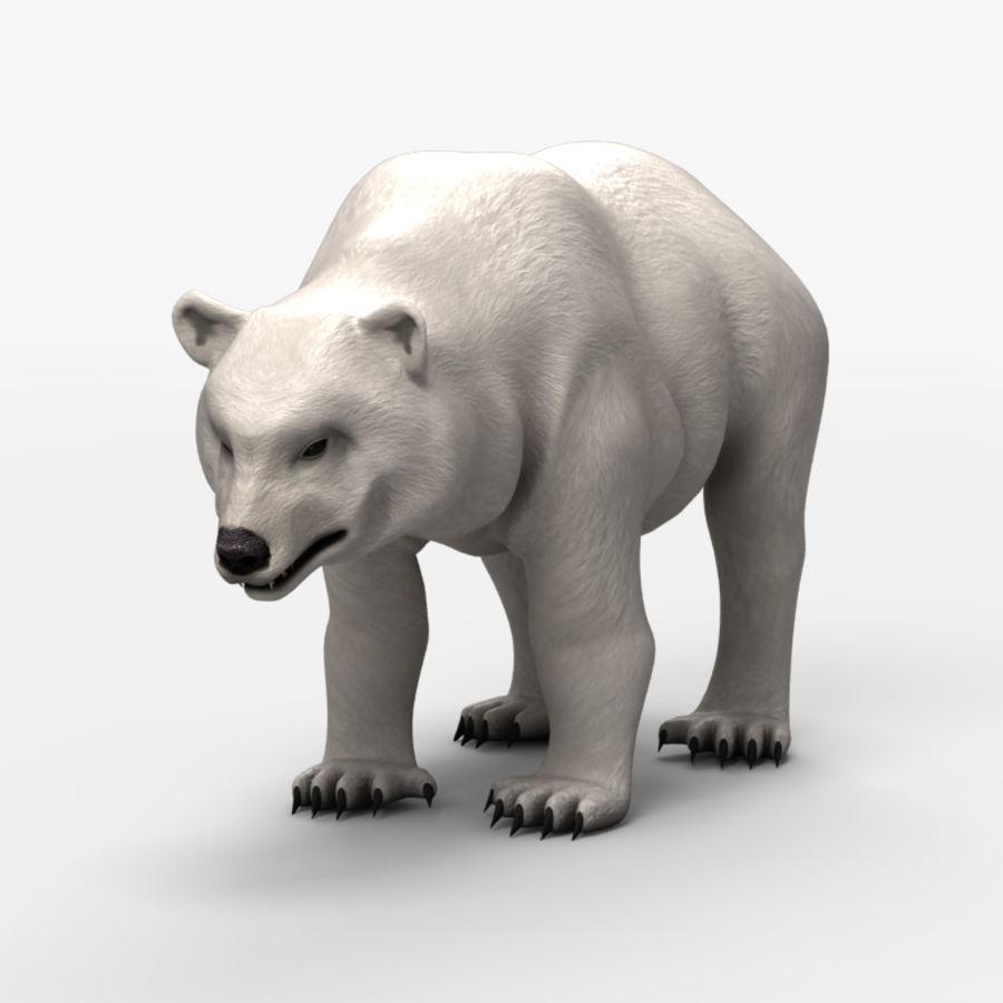 Urso baixo poli 2 royalty-free 3d model - Preview no. 2