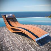 Tumbona de diseño de lujo modelo 3d