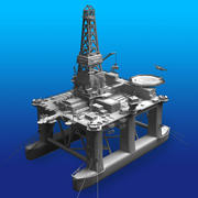 石油掘削装置 3d model