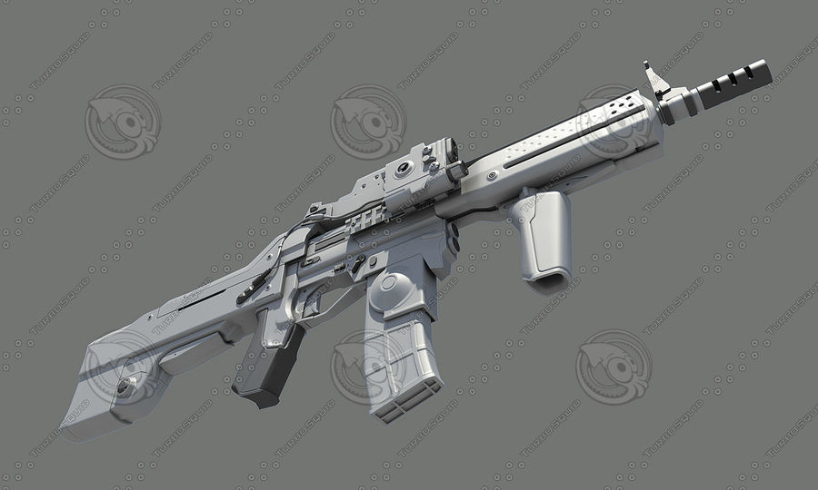 Assault Rifle royalty-free 3d model - Preview no. 10