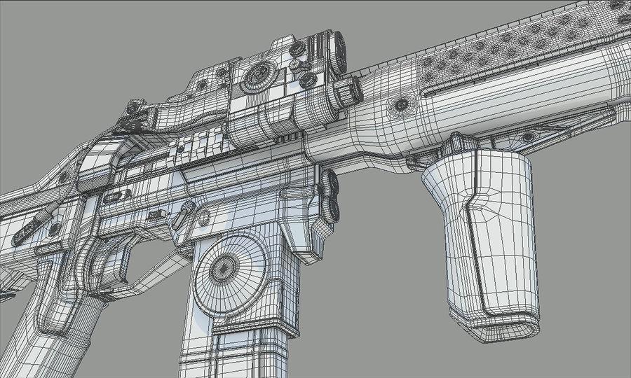 돌격 소총 royalty-free 3d model - Preview no. 12