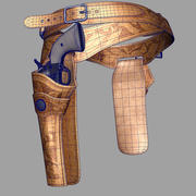 Holsters With Revolvers 3d model