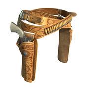 带有左轮手枪的皮套 3d model