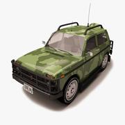 Lada Niva Military 3d model