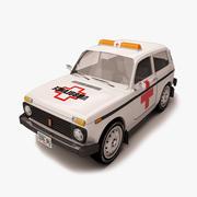 Lada Niva Ambulance 3d model