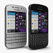 BlackBerry Q10 preto e branco 3d model