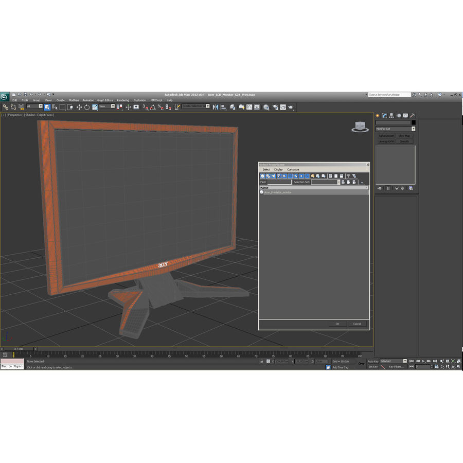Acer LCD Monitor G24 royalty-free 3d model - Preview no. 27