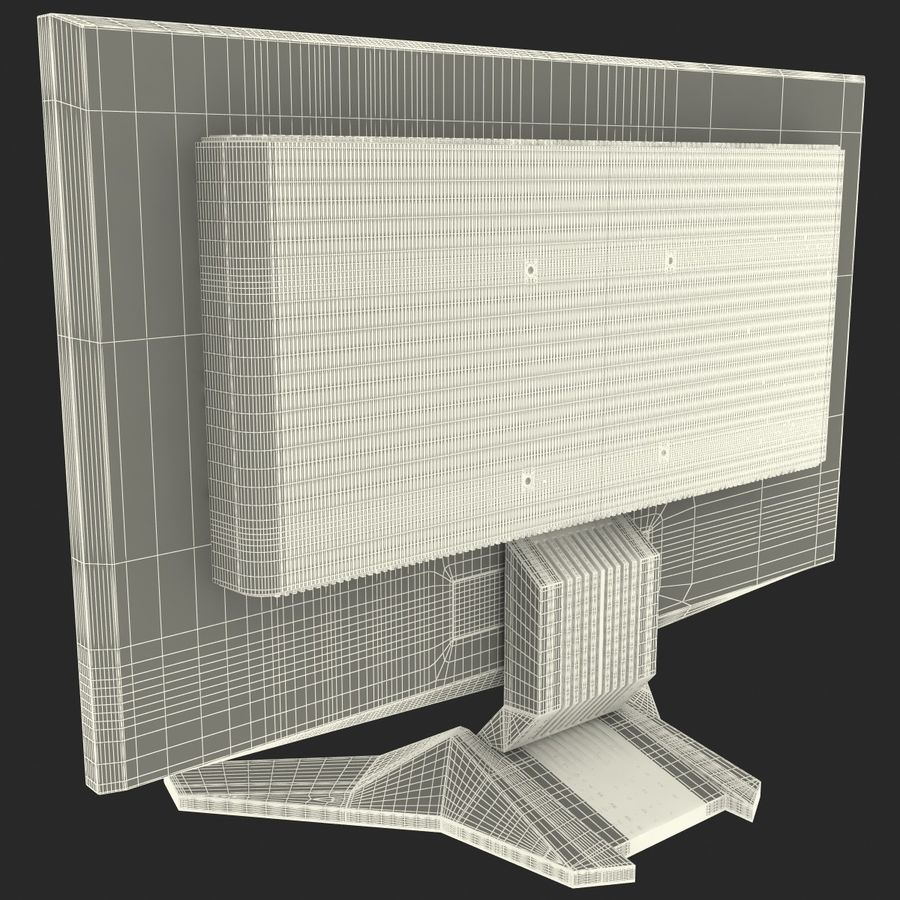 Acer LCD Monitor G24 royalty-free 3d model - Preview no. 19