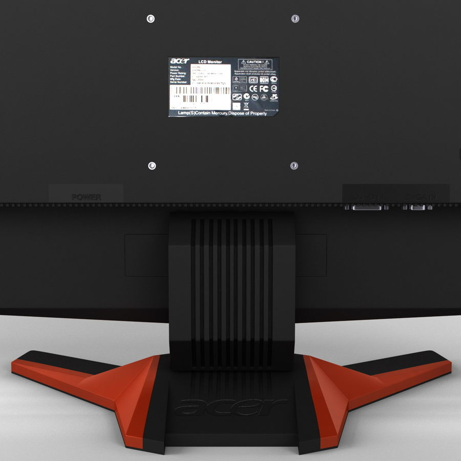 Acer LCD Monitor G24 royalty-free 3d model - Preview no. 12
