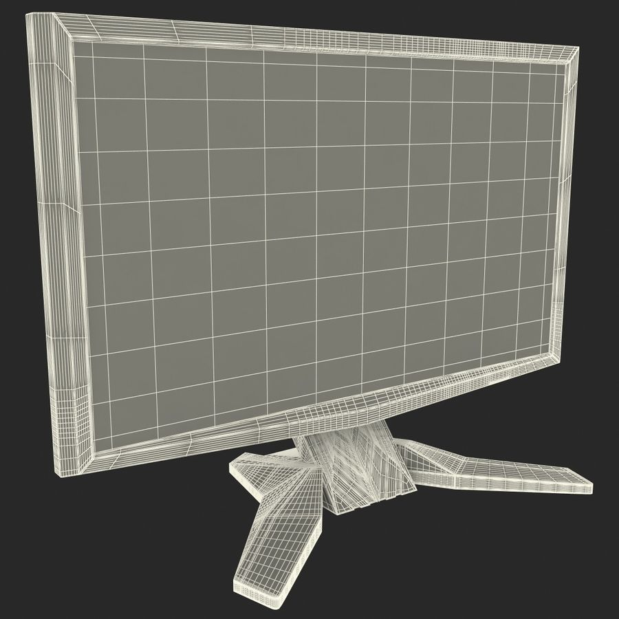 Acer LCD Monitor G24 royalty-free 3d model - Preview no. 15