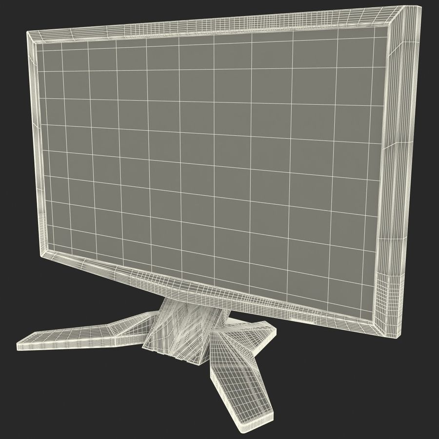 Acer LCD Monitor G24 royalty-free 3d model - Preview no. 20