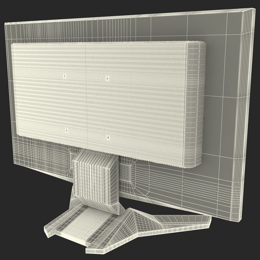 Acer LCD Monitor G24 royalty-free 3d model - Preview no. 17