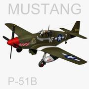 Mustang P-51B 3d model