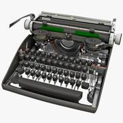 Mecanismo de máquina de escrever vintage 3d model