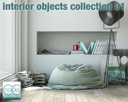 Коллекция предметов интерьера 01 3d model