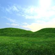 Gröna kullar 3d model