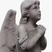 Estatua de ángel modelo 3d