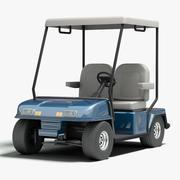 Golfbil 3d model