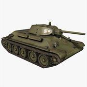 タンクT34-76 1941年バージョン 3d model