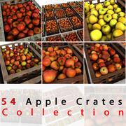 Apfel Obstkisten Kisten Market Store Shop Convenience General Grocery Greengrocery Detail Prop Fair Plantage Dschungel Südpflanze Garten Gewächshaus Rot Grün Realistische Vray 3d model