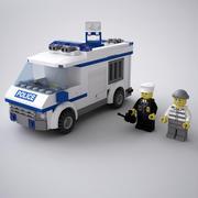 Furgone della polizia LEGO 3d model