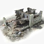 Ruinas Ruinas Edificio 01 modelo 3d
