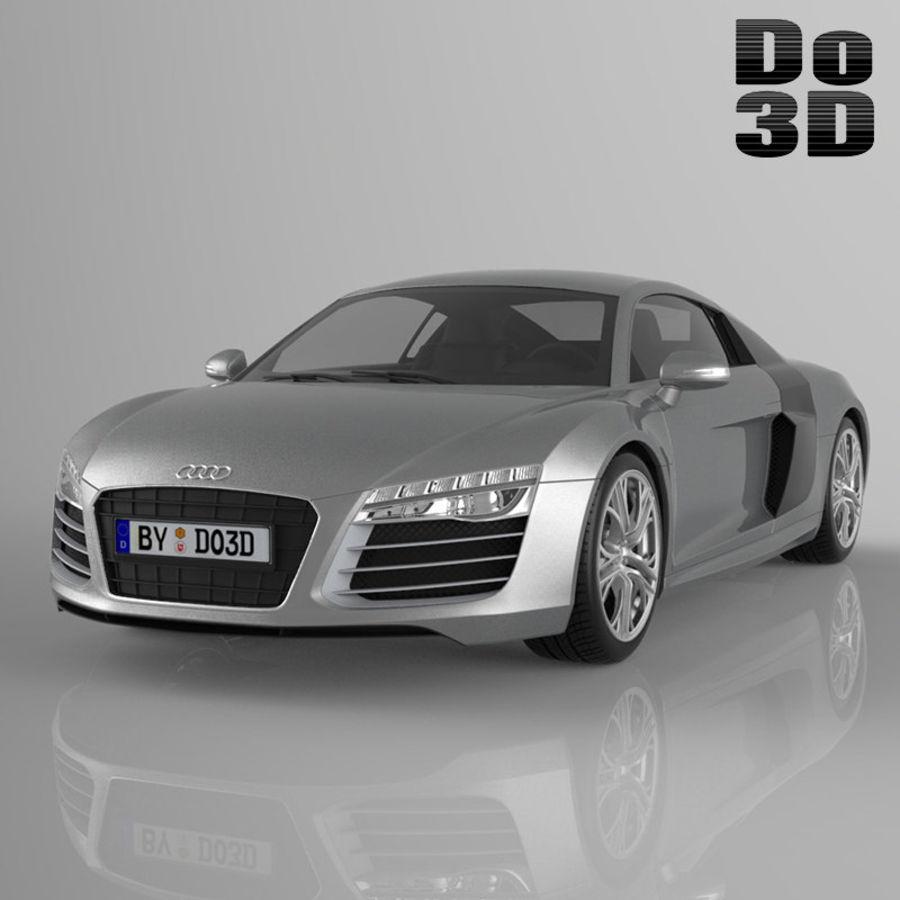 Audi R8 2014 royalty-free 3d model - Preview no. 1