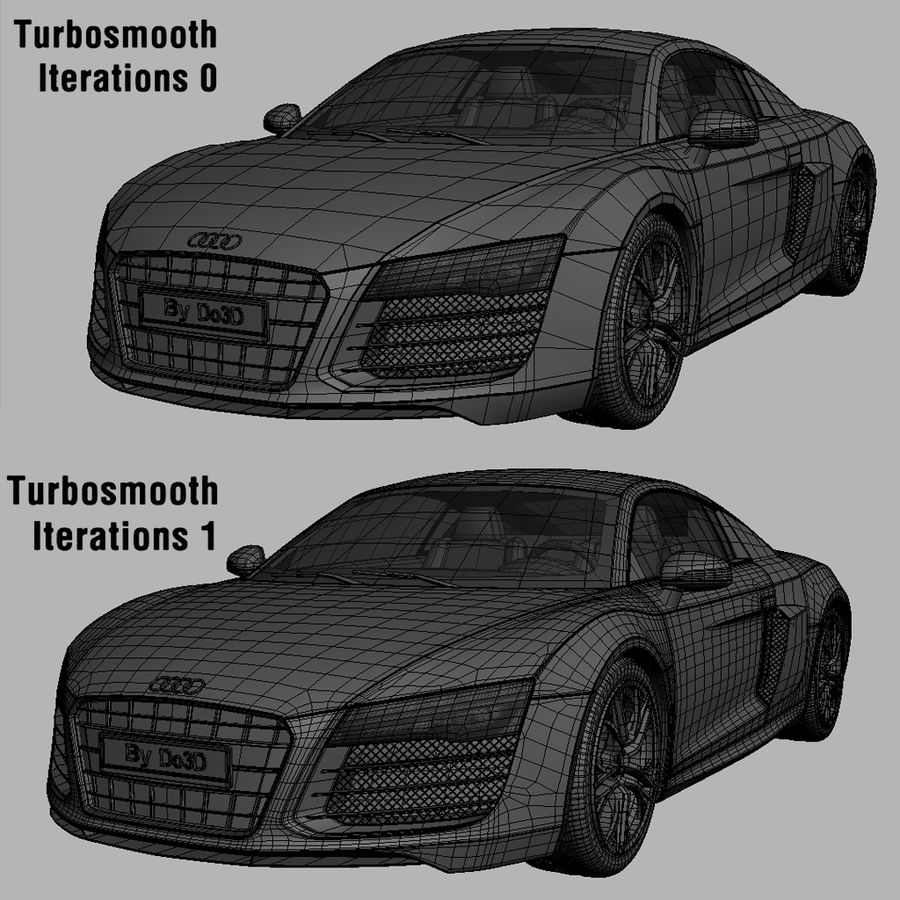 Audi R8 2014 royalty-free 3d model - Preview no. 5