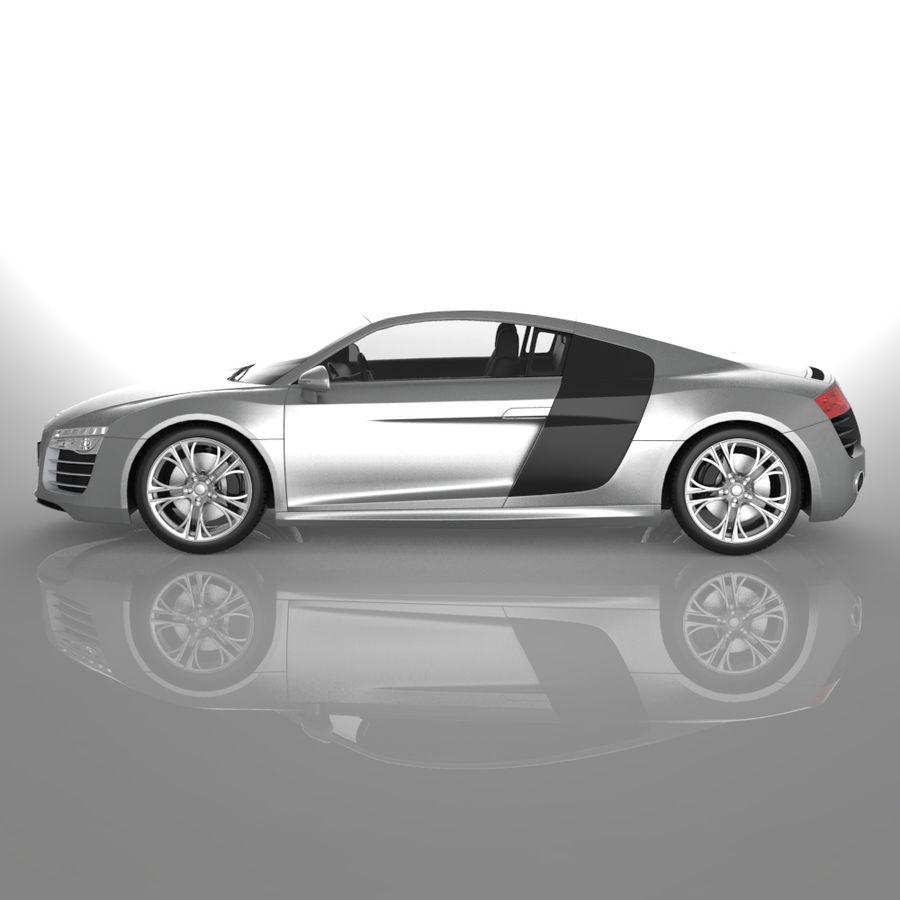 Audi R8 2014 royalty-free 3d model - Preview no. 4