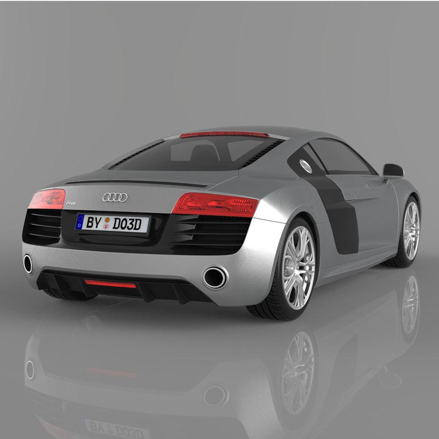 Audi R8 2014 royalty-free 3d model - Preview no. 2