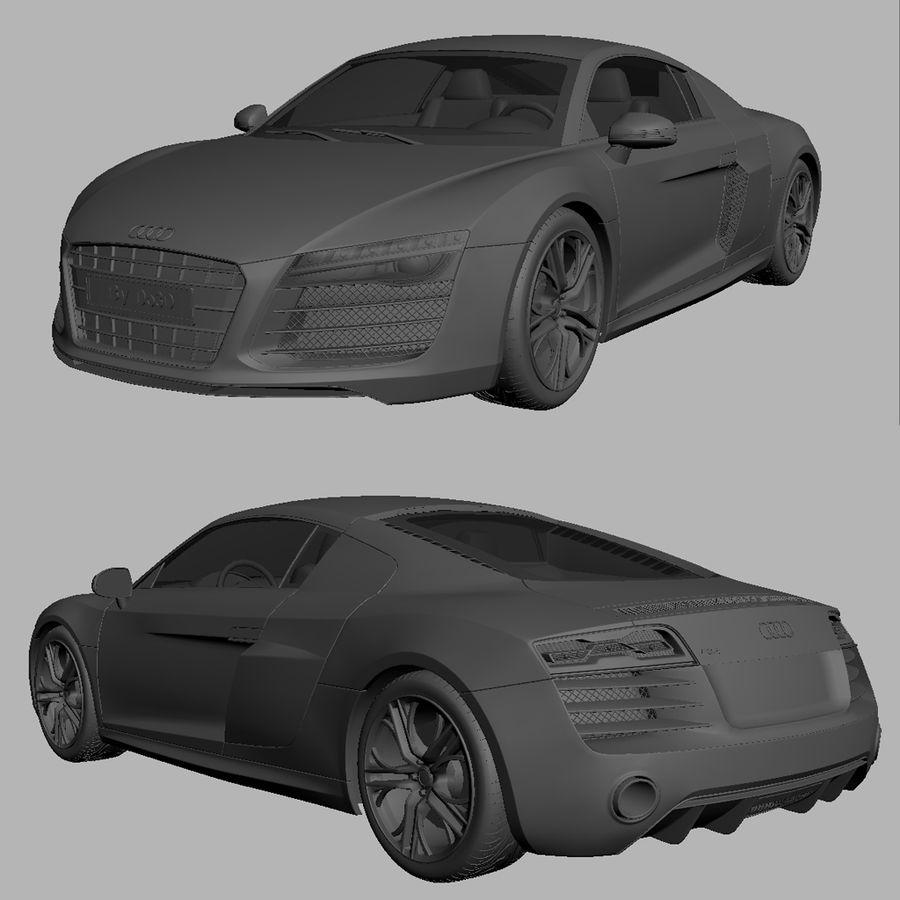Audi R8 2014 royalty-free 3d model - Preview no. 7