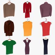 Collection de vêtements 3d model
