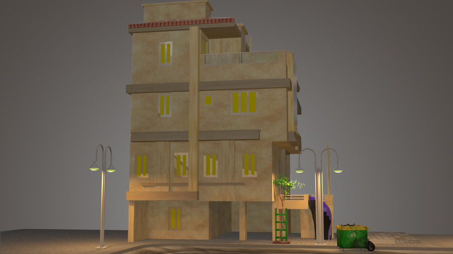 città royalty-free 3d model - Preview no. 8