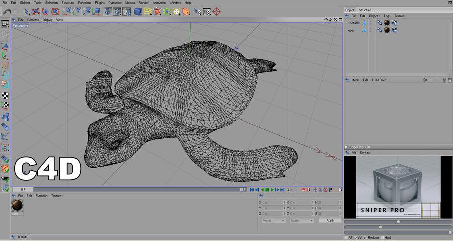 カメの海 royalty-free 3d model - Preview no. 18