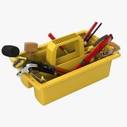 Ящик для инструментов с инструментами 3d model