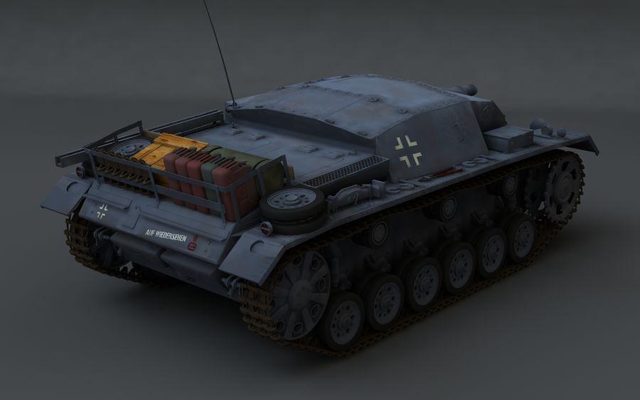 Sturmgeschütz III Второй мировой войны немецкий танк royalty-free 3d model - Preview no. 3