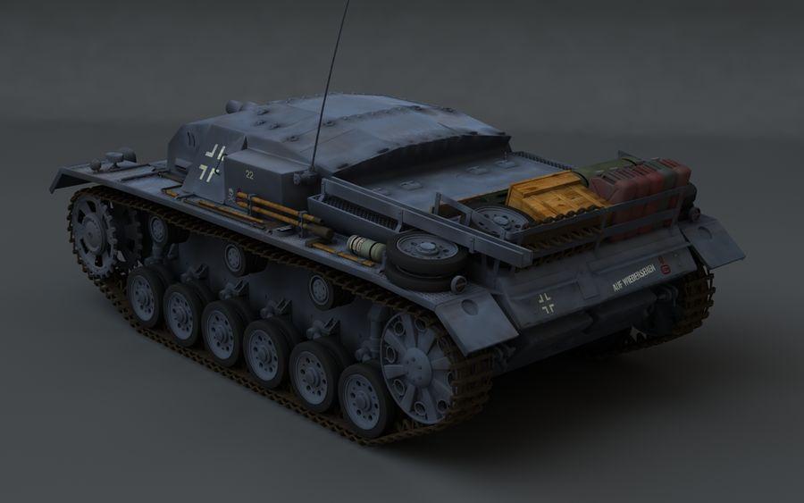 Sturmgeschütz III Второй мировой войны немецкий танк royalty-free 3d model - Preview no. 4