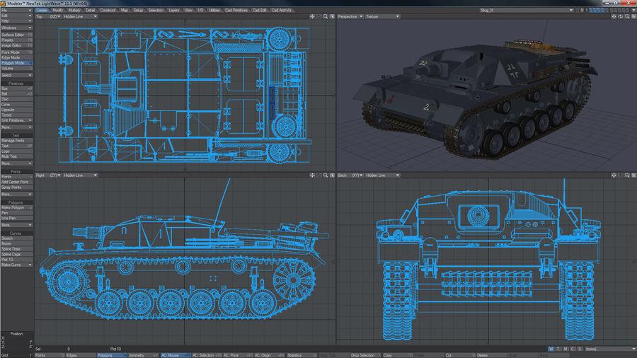 Sturmgeschütz III Второй мировой войны немецкий танк royalty-free 3d model - Preview no. 10