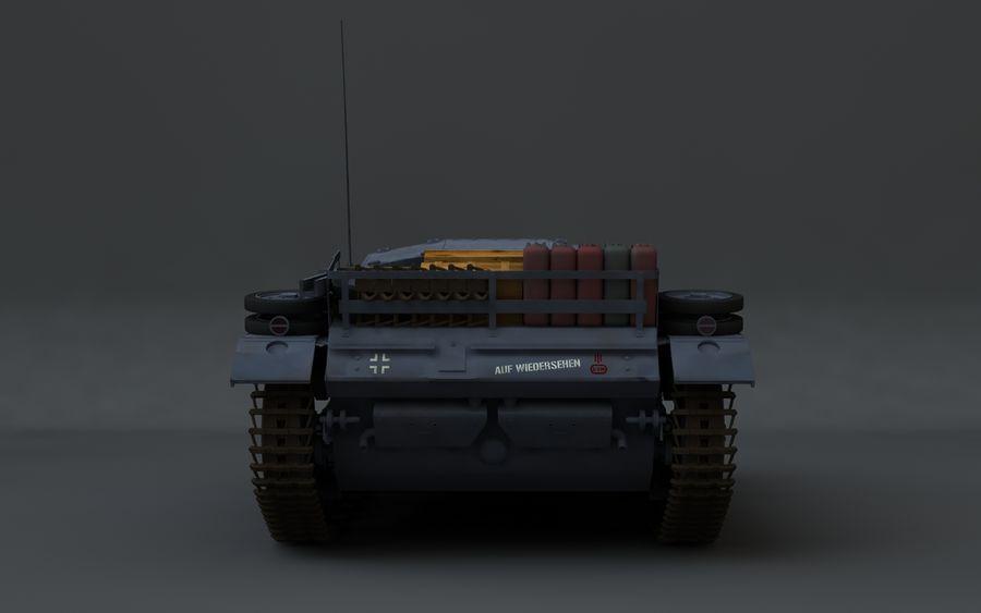 Sturmgeschütz III Второй мировой войны немецкий танк royalty-free 3d model - Preview no. 8