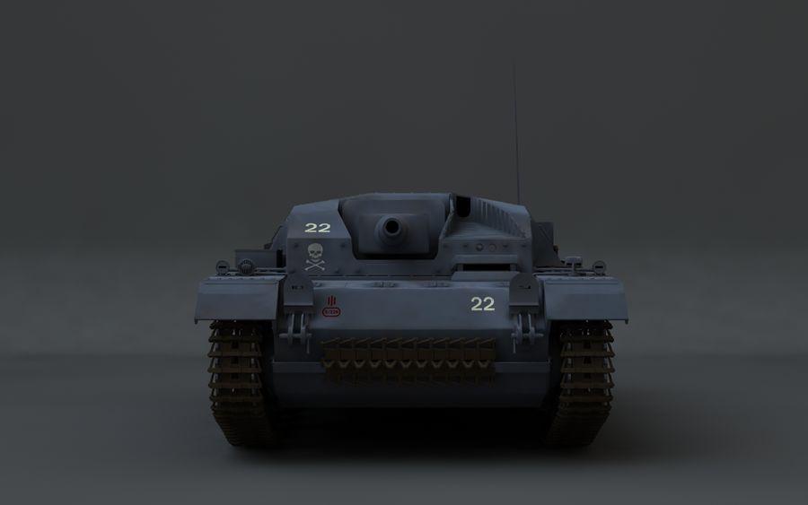 Sturmgeschütz III Второй мировой войны немецкий танк royalty-free 3d model - Preview no. 7