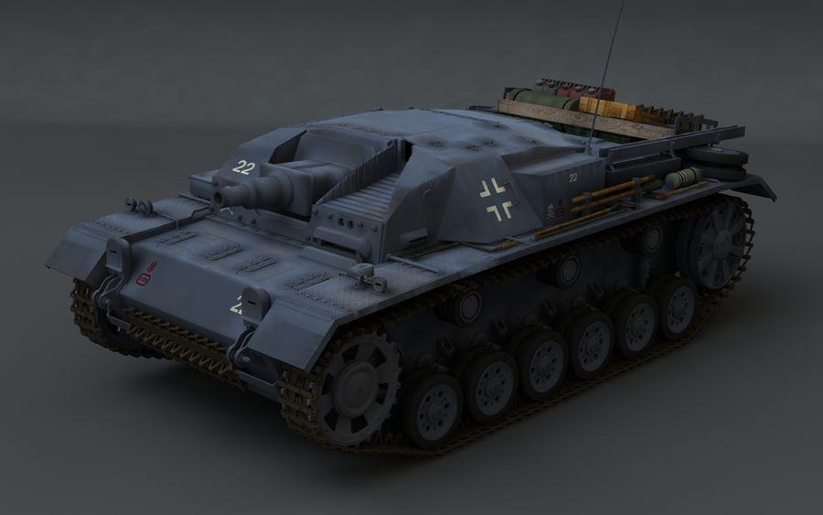 Sturmgeschütz III Второй мировой войны немецкий танк royalty-free 3d model - Preview no. 1